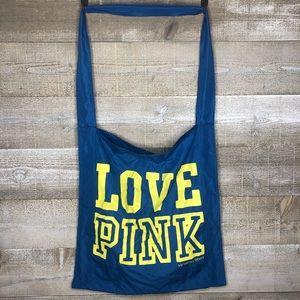 Victorias Secret Love Pink blue tote bag